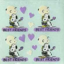 Load image into Gallery viewer, Pack of Paper Stickers - Charlie Brown and Snoopy Best Friends