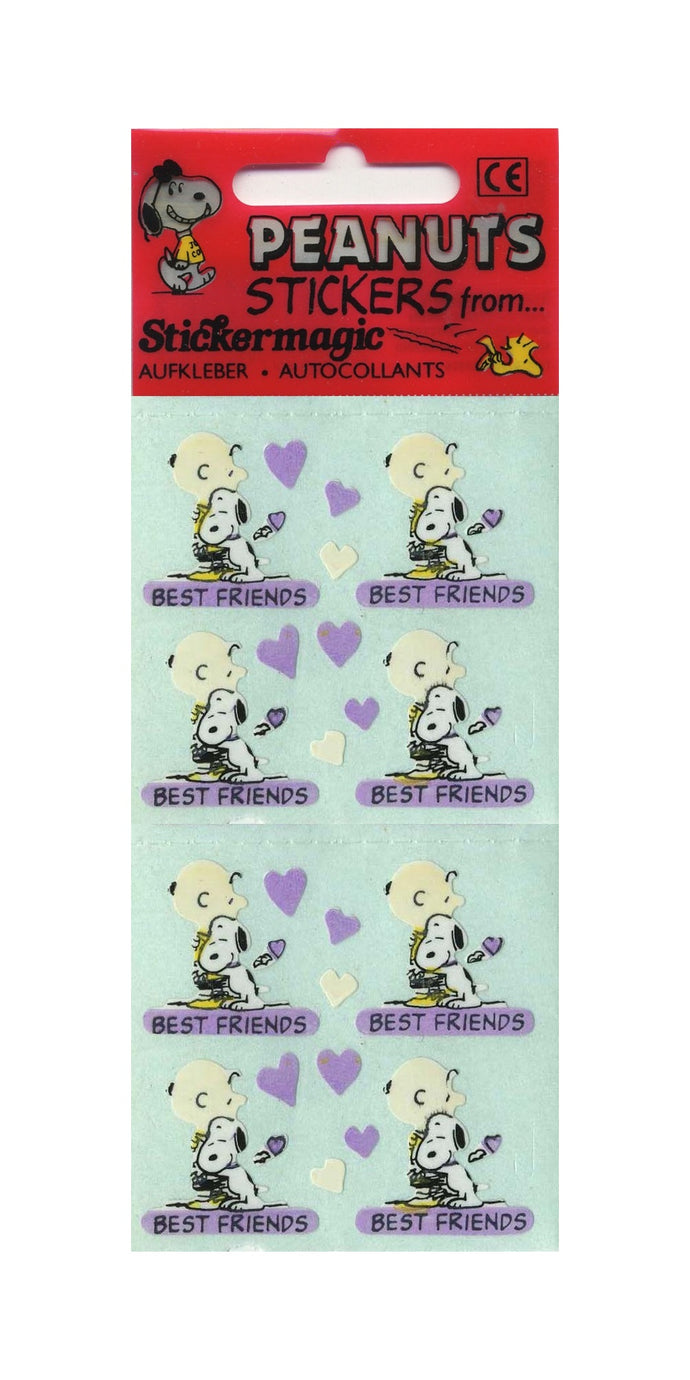 Pack of Paper Stickers - Charlie Brown and Snoopy Best Friends