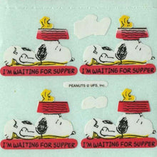 Load image into Gallery viewer, Pack of Paper Stickers - Snoopy I'm Waiting For Supper