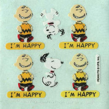 Load image into Gallery viewer, Pack of Paper Stickers - Charlie Brown I'm Happy