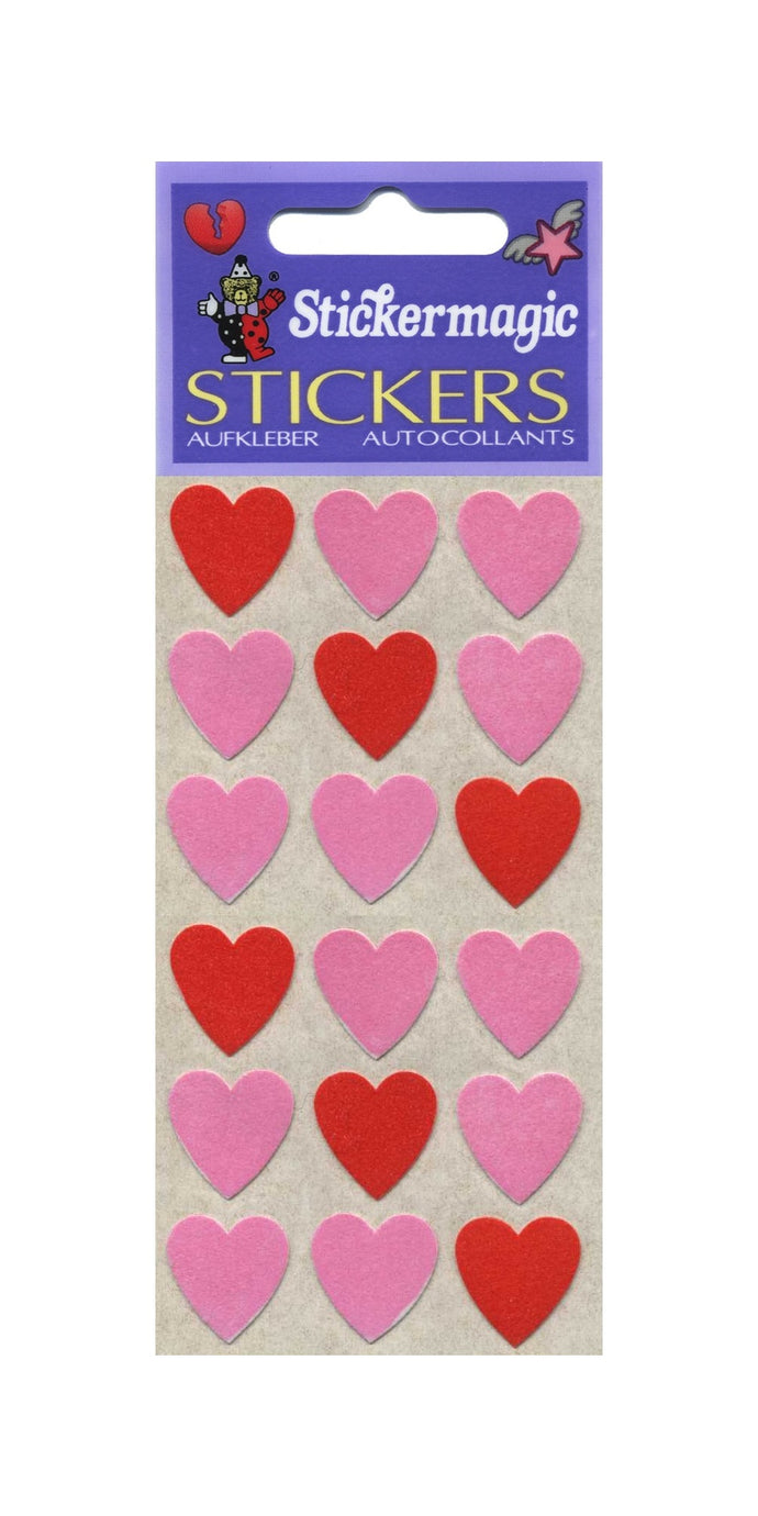 Pack of Furrie Stickers - Pink Hearts
