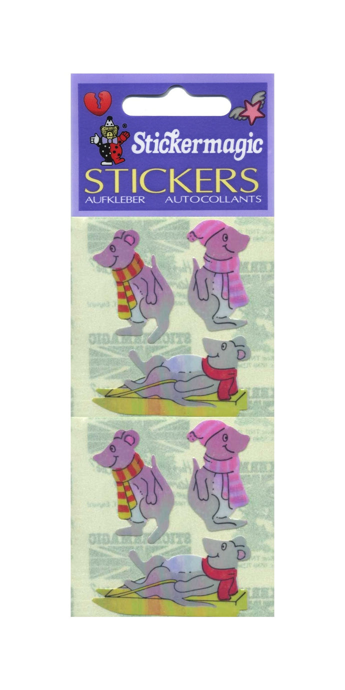 Pack of Pearlie Stickers - Winter Mice