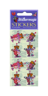 Pack of Pearlie Stickers - Teddy Clowns