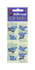Pack of Pearlie Stickers - Blue Birds