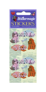 Pack of Pearlie Stickers - Puppies & Bone