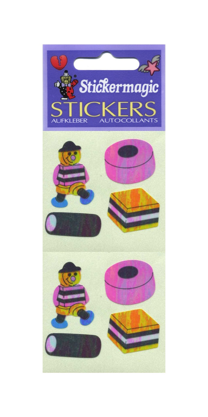 Pack of Pearlie Stickers - Liquorice Allsorts