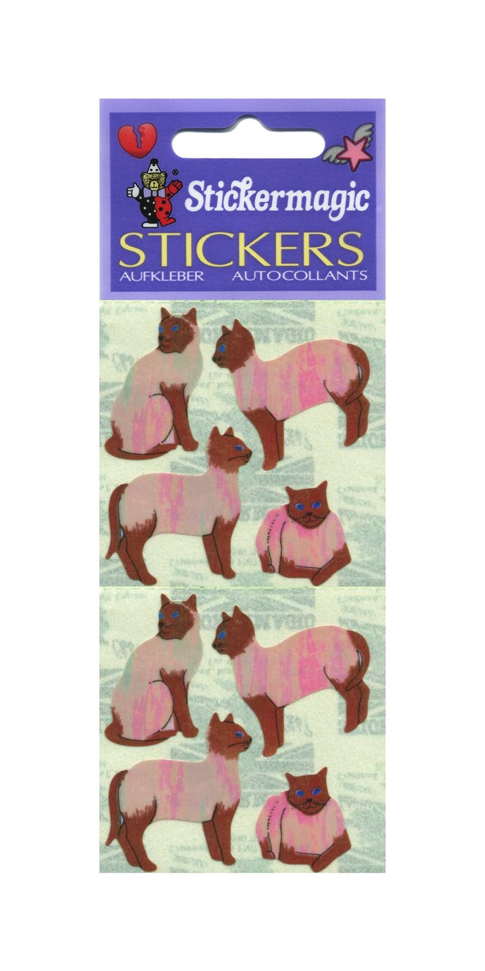 Pack of Pearlie Stickers - Siamese Cats