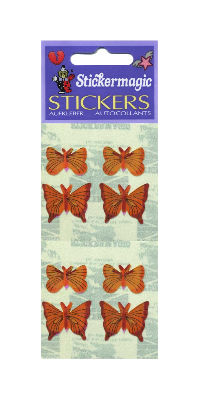 Pack of Pearlie Stickers - Yellow Butterflies