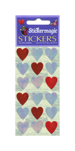 Pack of Pearlie Stickers - Pink Hearts