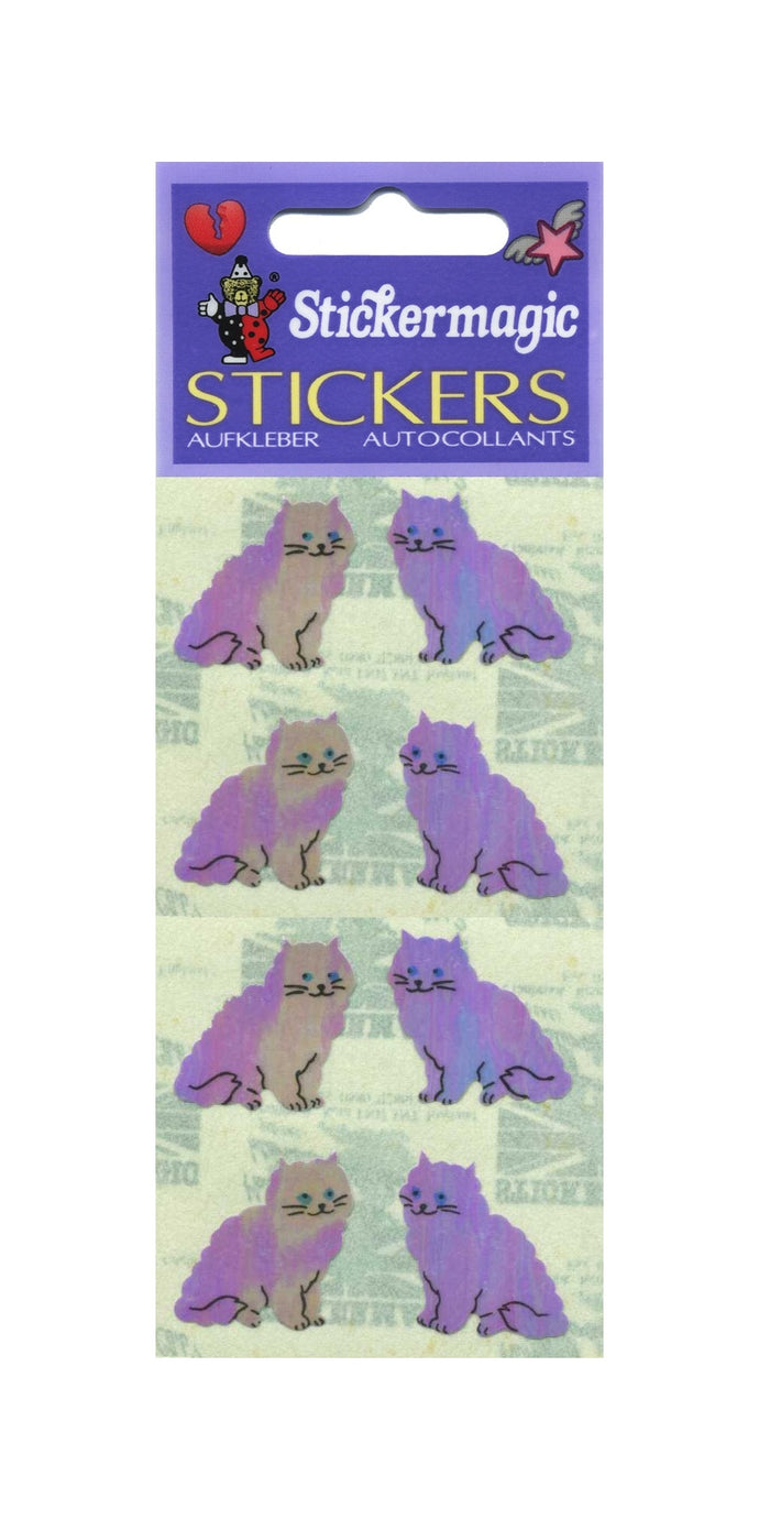 Pack of Pearlie Stickers - Purple Cats