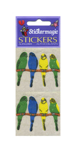 Pack of Furrie Stickers - Budgies On Perch