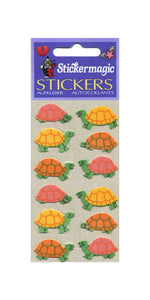 Pack of Furrie Stickers - Multi Coloured Tortoises