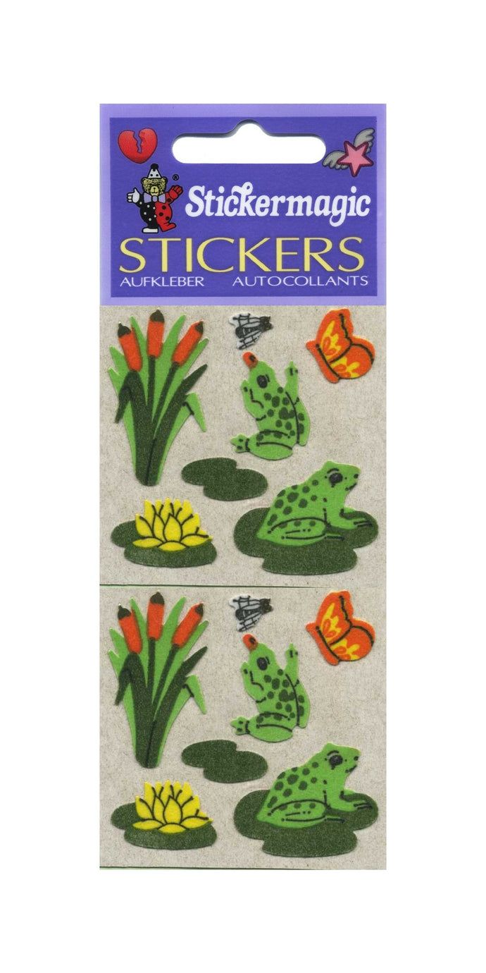 Pack of Furrie Stickers - Frogs on Lily Pads