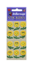 Load image into Gallery viewer, Pack of Furrie Stickers - Smiley Sunflower