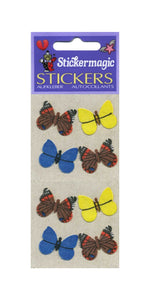 Pack of Furrie Stickers - Multi Coloured Butterflies