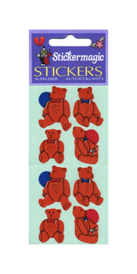 Pack of Paper Stickers - Traditional Teddies