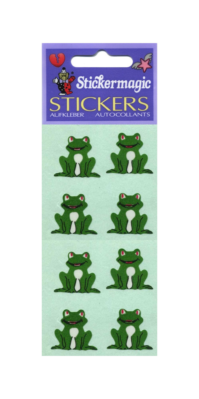 Pack of Paper Stickers - Frogs Sitting