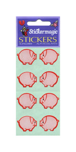 Pack of Paper Stickers - Pink Pigs