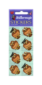 Pack of Paper Stickers - Wise Owls