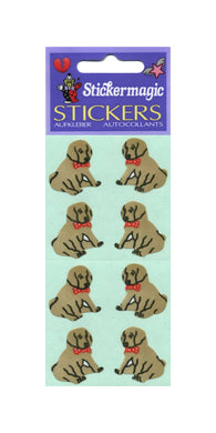 Pack of Paper Stickers - Puppies Sitting