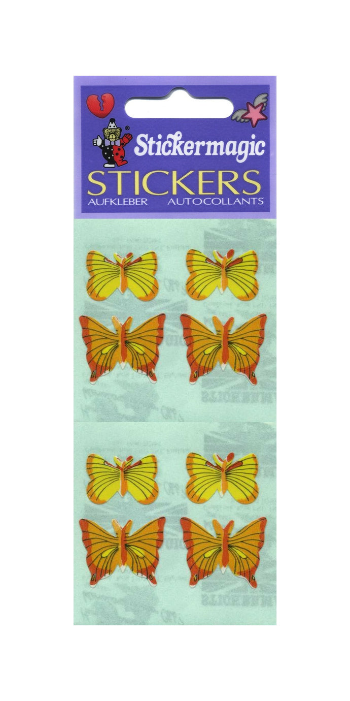 Pack of Paper Stickers - Yellow Butterflies
