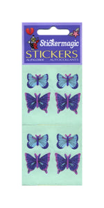 Pack of Paper Stickers - Blue Butterflies