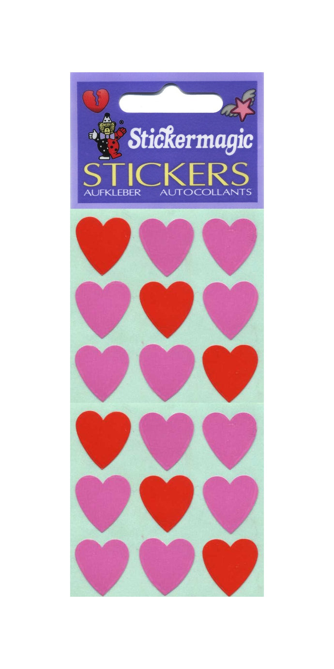 Pack of Paper Stickers - Pink Hearts