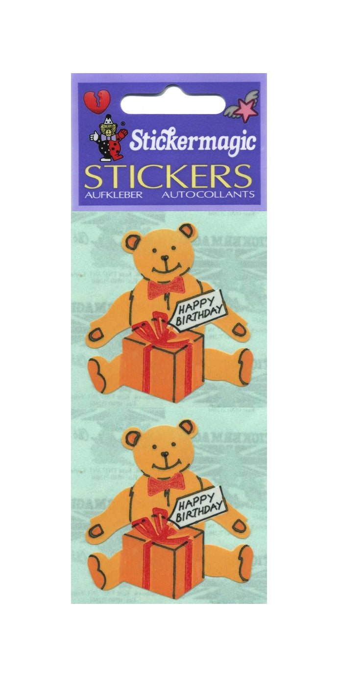 Pack of Paper Stickers - Birthday Bear