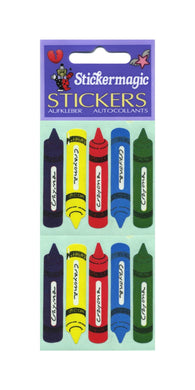 Pack of Paper Stickers - Crayons