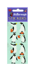 Pack of Paper Stickers - Penguin Family