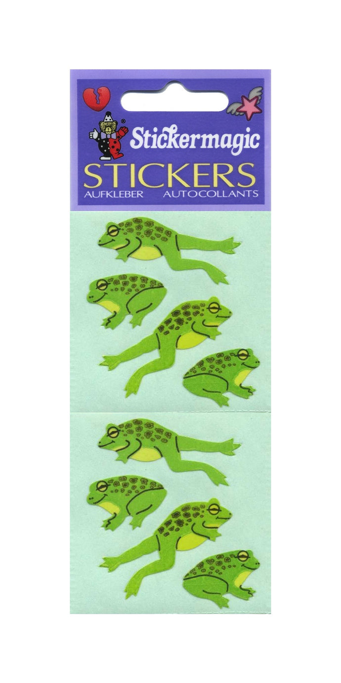 Pack of Paper Stickers - Jumping Frogs