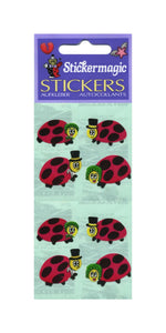 Pack of Paper Stickers - Ladybirds