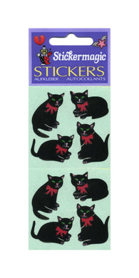 Pack of Paper Stickers - Black Cats
