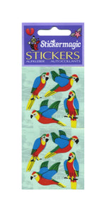 Pack of Paper Stickers - Parrots
