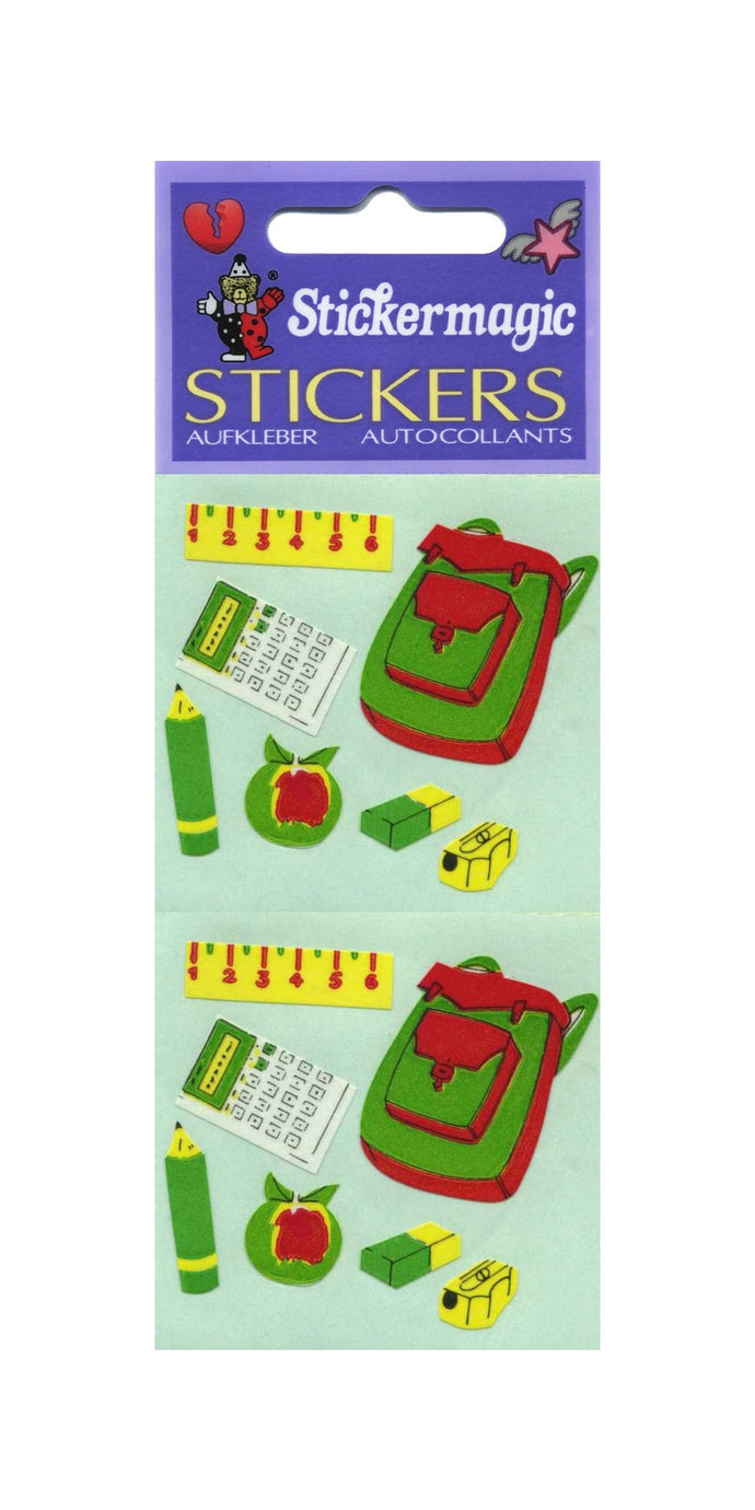 Pack of Paper Stickers - School Bag