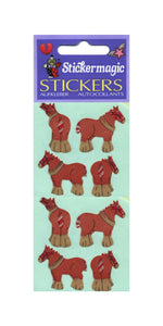 Pack of Paper Stickers - Shire Horses