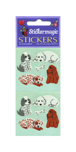 Pack of Paper Stickers - Puppies & Bone