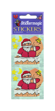 Pack of Paper Stickers - Santas