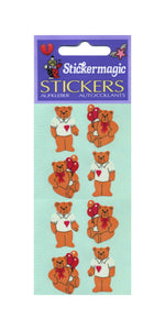 Pack of Paper Stickers - Teddies In T-Shirts