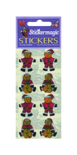 Load image into Gallery viewer, Pack of Pearlie Stickers - Santa Bears