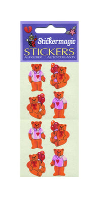 Pack of Pearlie Stickers - Teddies In T-Shirts