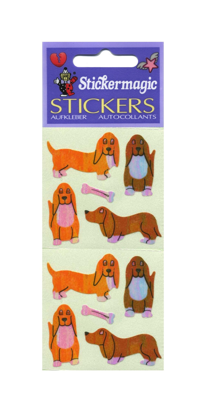 Pack of Pearlie Stickers - Basset Hounds