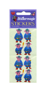 Pack of Pearlie Stickers - Piggie Police