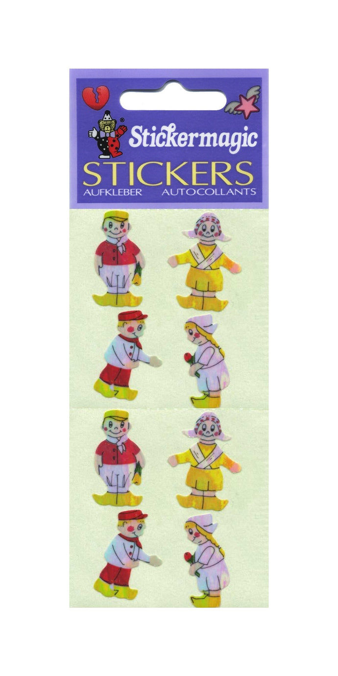 Pack of Pearlie Stickers - Dutch Boy & Girl