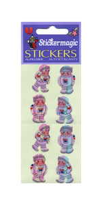 Pack of Pearlie Stickers - Young Astronauts