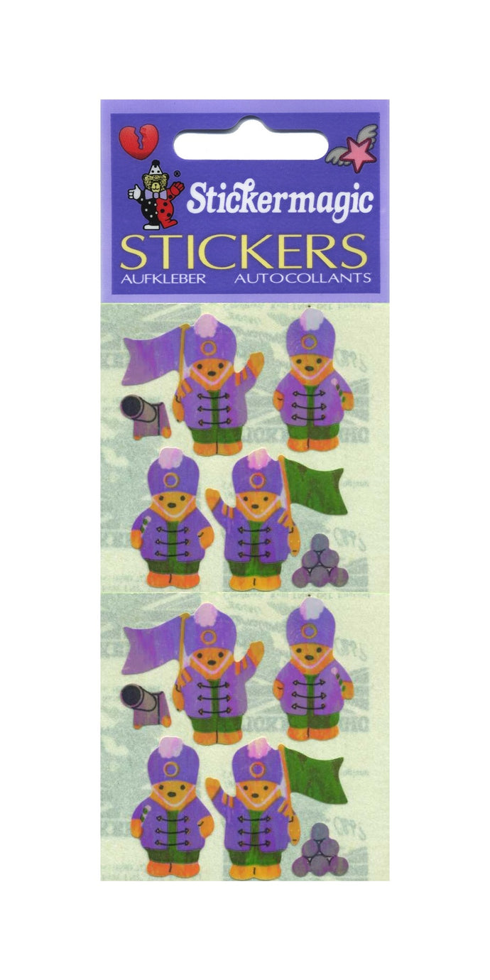 Pack of Pearlie Stickers - Soldier Teddies