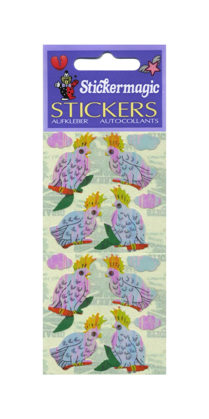 Pack of Pearlie Stickers - Cockatoos