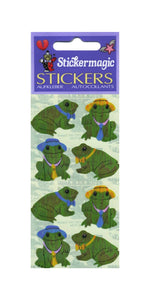Pack of Pearlie Stickers - Frog Wearing Hat