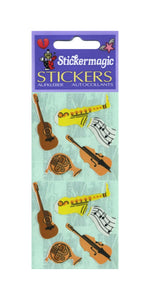Pack of Paper Stickers - Musical Instruments