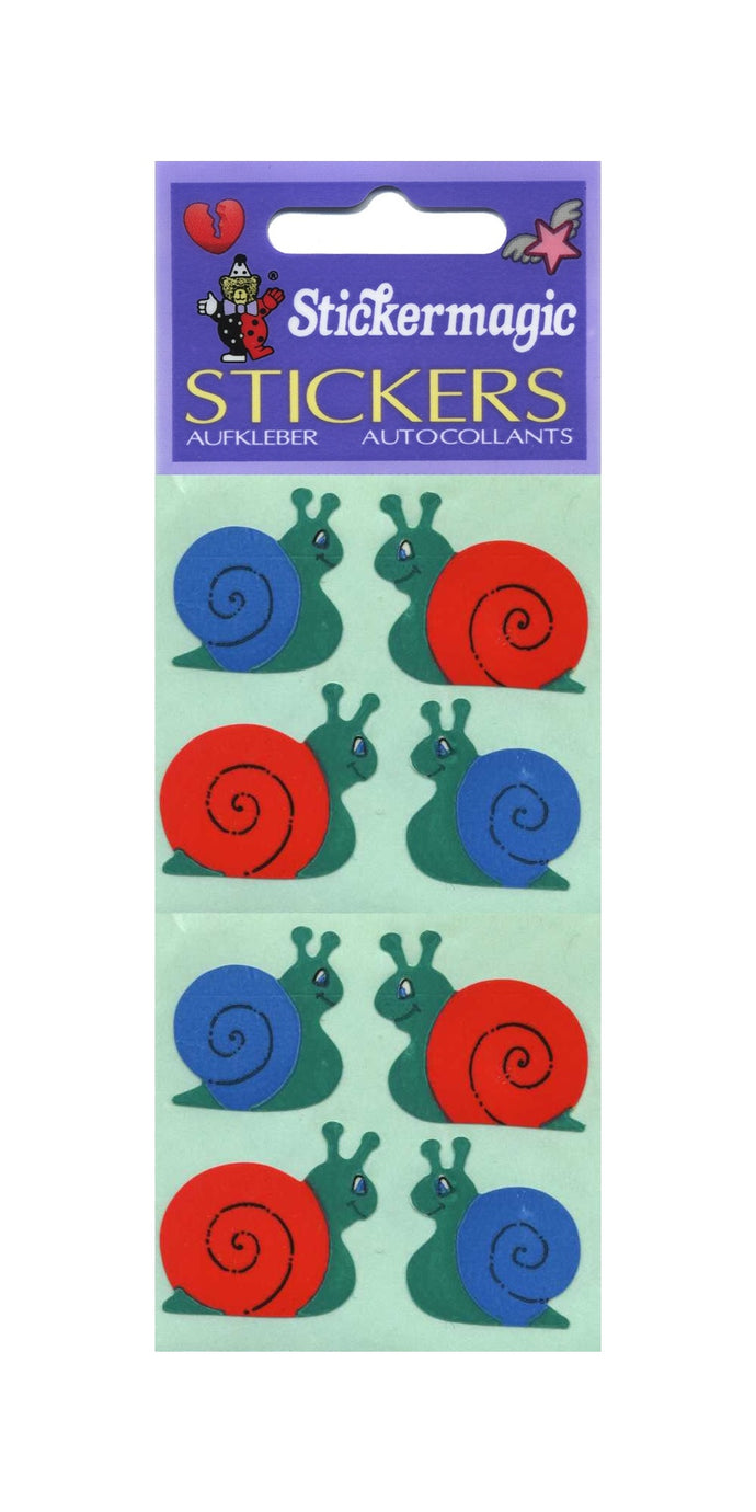 Pack of Paper Stickers - Snails